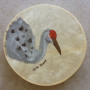 Hand Painted Native American Drum - Sandhill Crane